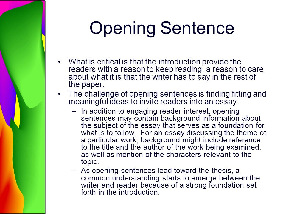aims writing process research skills review in class research 5 opening sentence