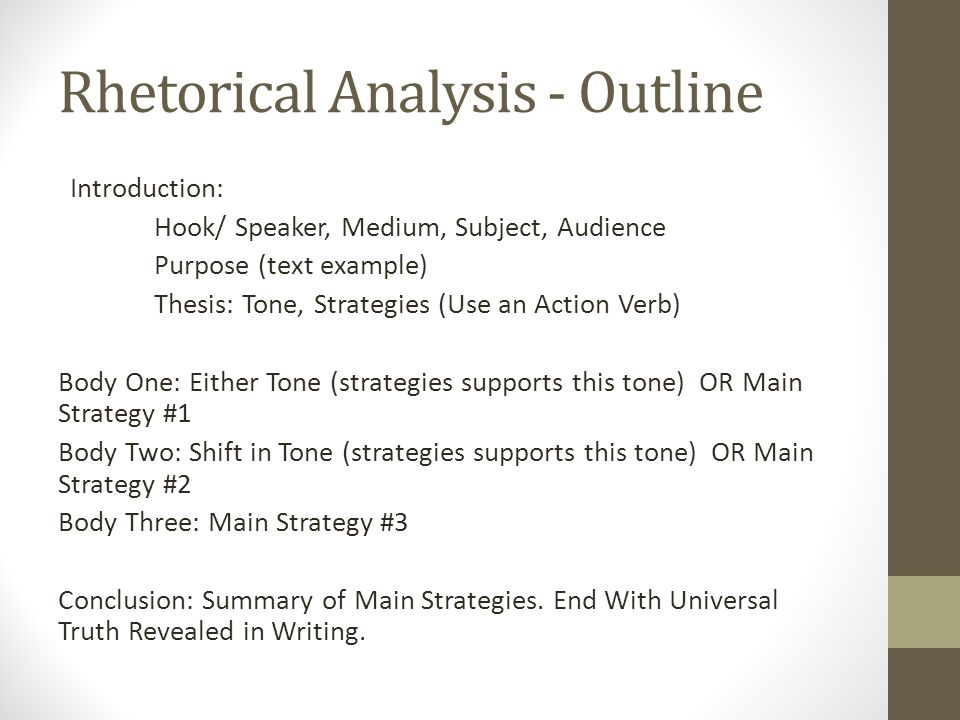 a comparison of rhetorical strategies lutz Ap english language and composition summer assignment study the attached list of rhetorical strategies and comparison/contrast—a pattern of writing or.