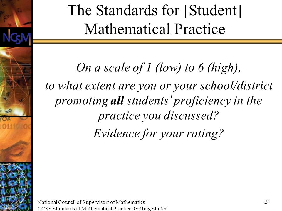 National Council of Supervisors of Mathematics CCSS Standards of ...