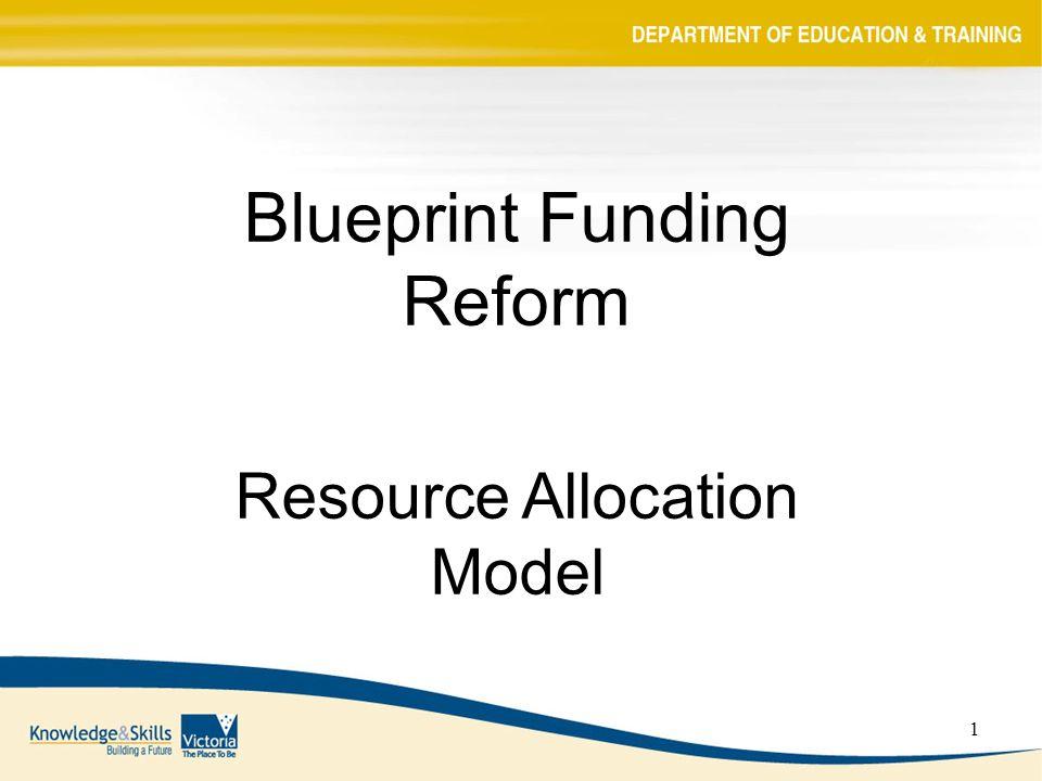 1 blueprint funding reform resource allocation model ppt download 1 1 blueprint funding reform resource allocation model malvernweather Image collections