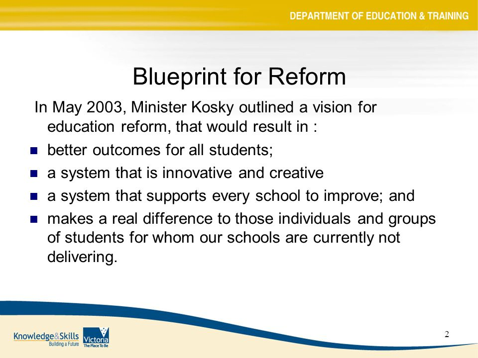 1 blueprint funding reform resource allocation model ppt download 2 2 blueprint for reform malvernweather Image collections