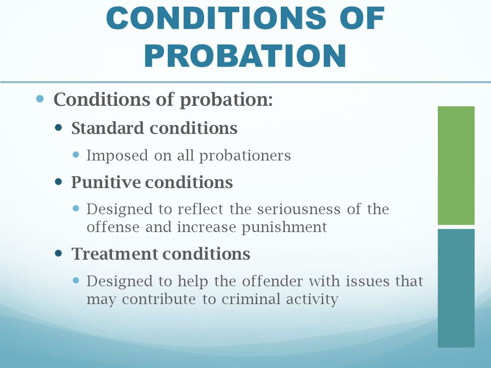 probation and punishment Cheap essay writing service in north carolina tutorial probation and punishment in the scenarios and resulting simulations, robert donovan, a jurisville probation.