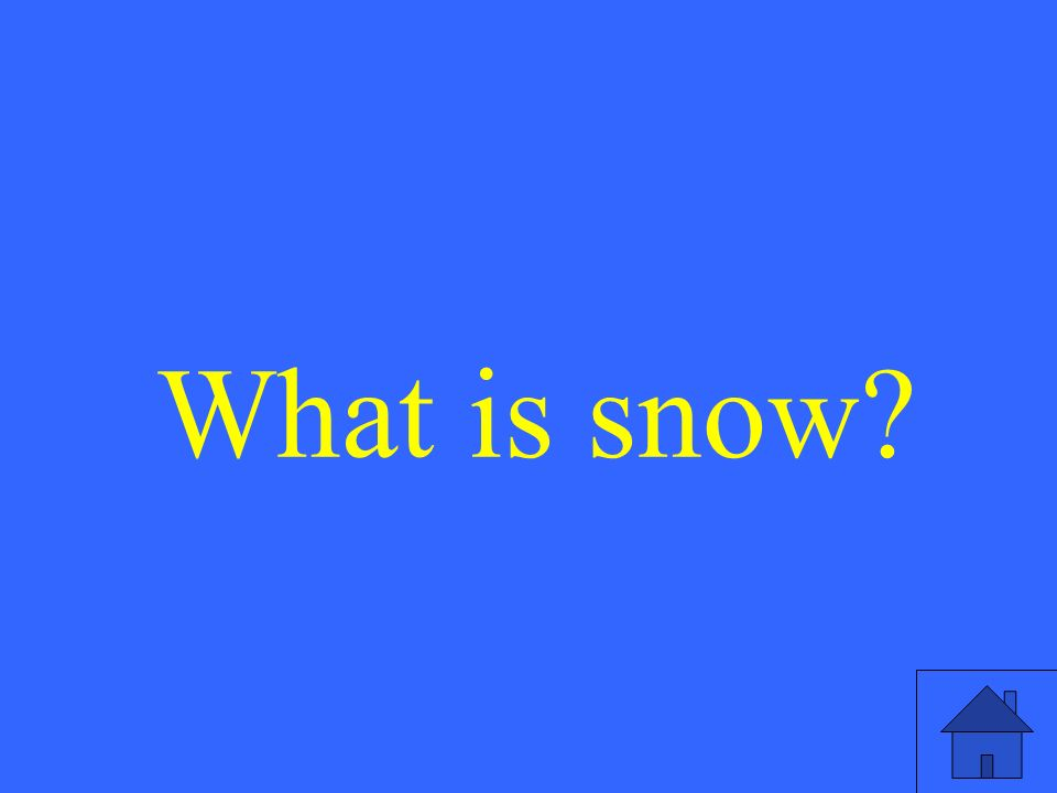 What is snow