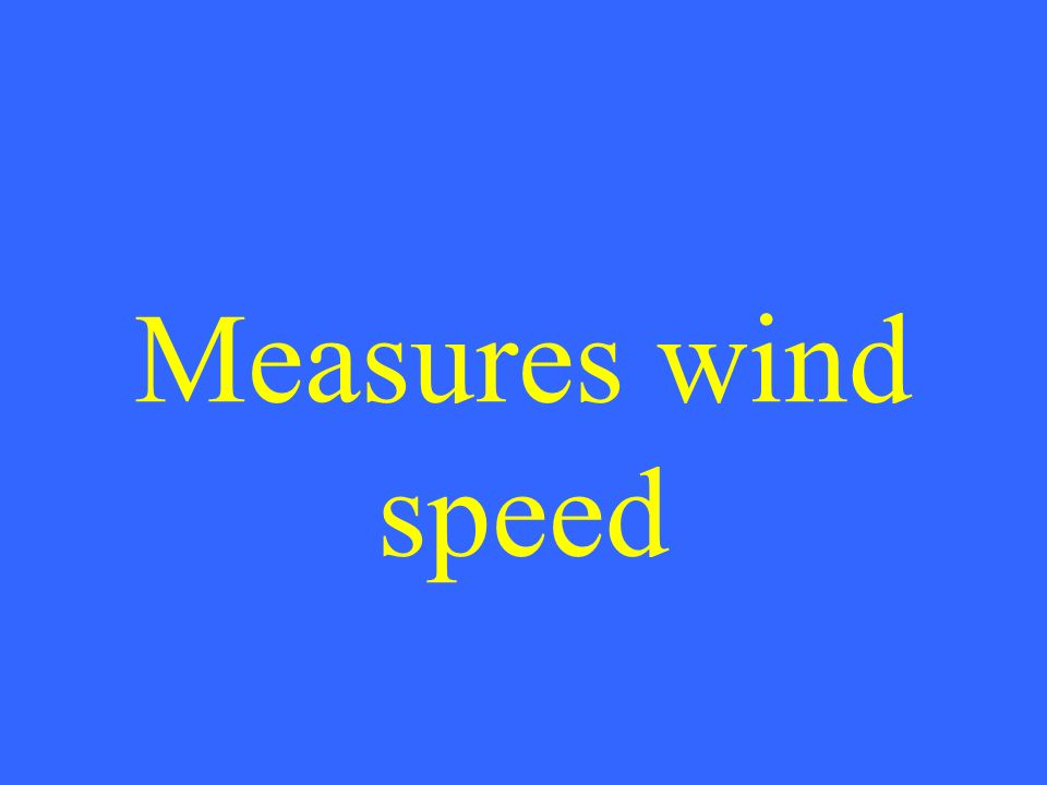Measures wind speed