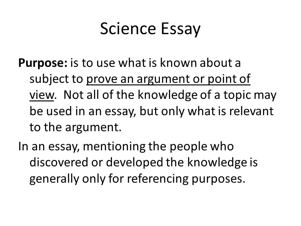 essays on purpose Online writing lab of different essays that are written in each main mode, but each variation ultimately has the same overall purpose.