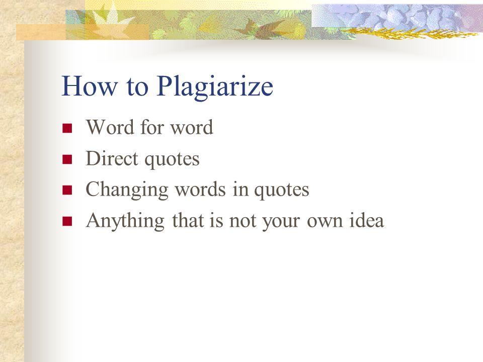 Plagiarism word changer