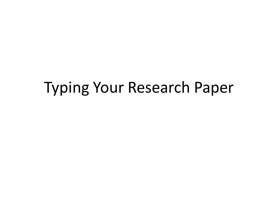 writing career research paper