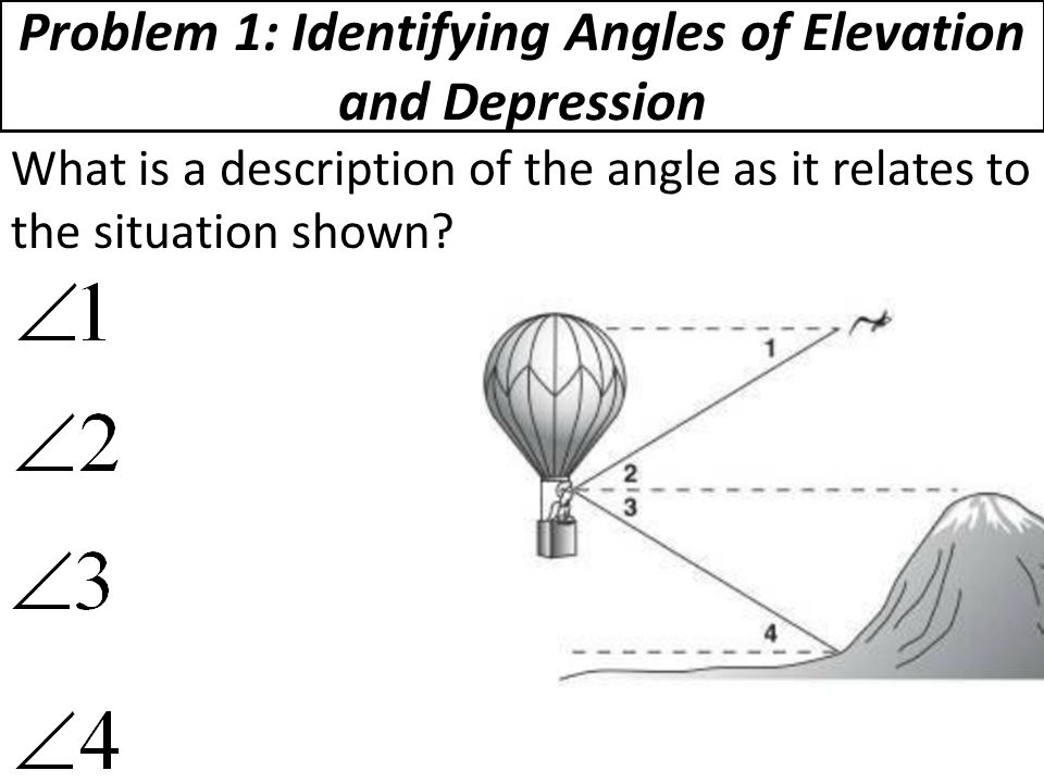 Angles Of Elevation And Depression Worksheet - Delibertad