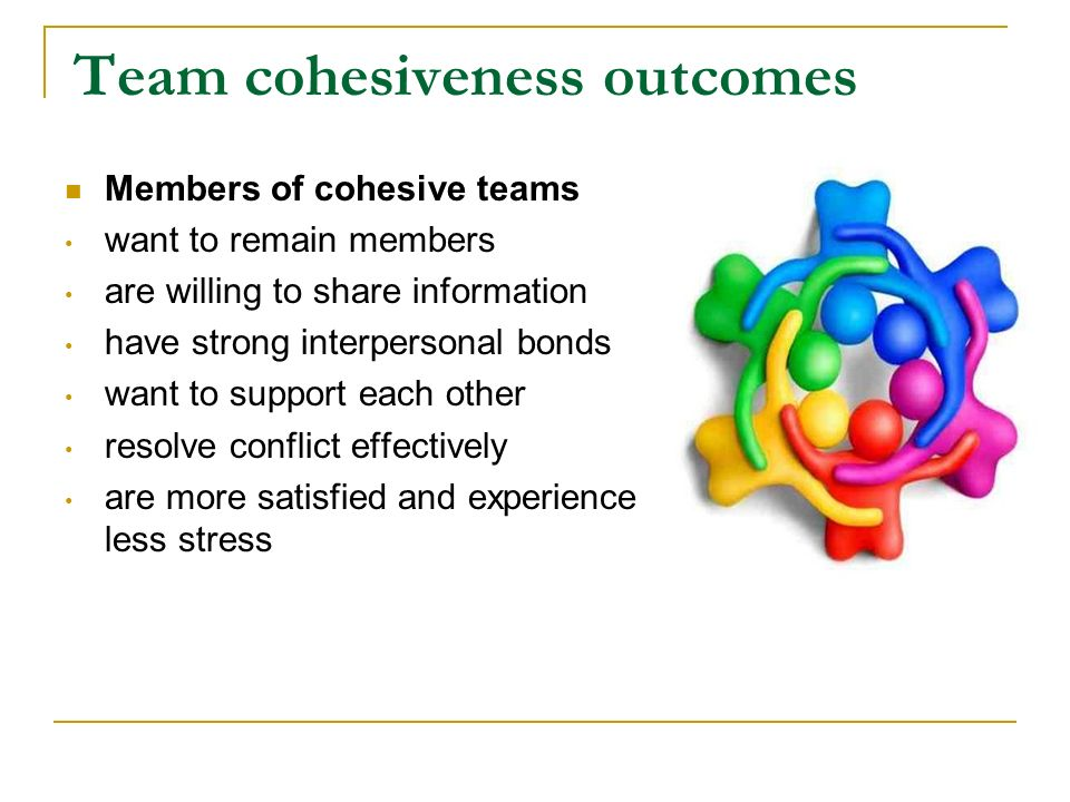 Causes of team cohesiveness