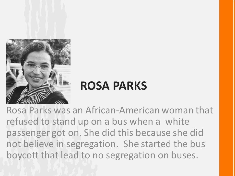 essay rosa park