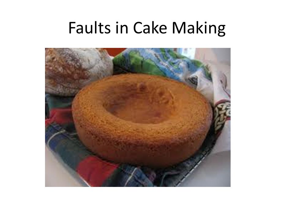 Cake making methods revision