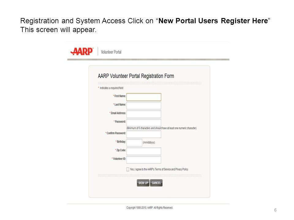 Aarp Registration Form Heartpulsar