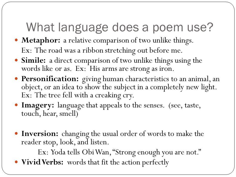 Figurative Language Poetic Language Poetic Elements Poetic Devices ...