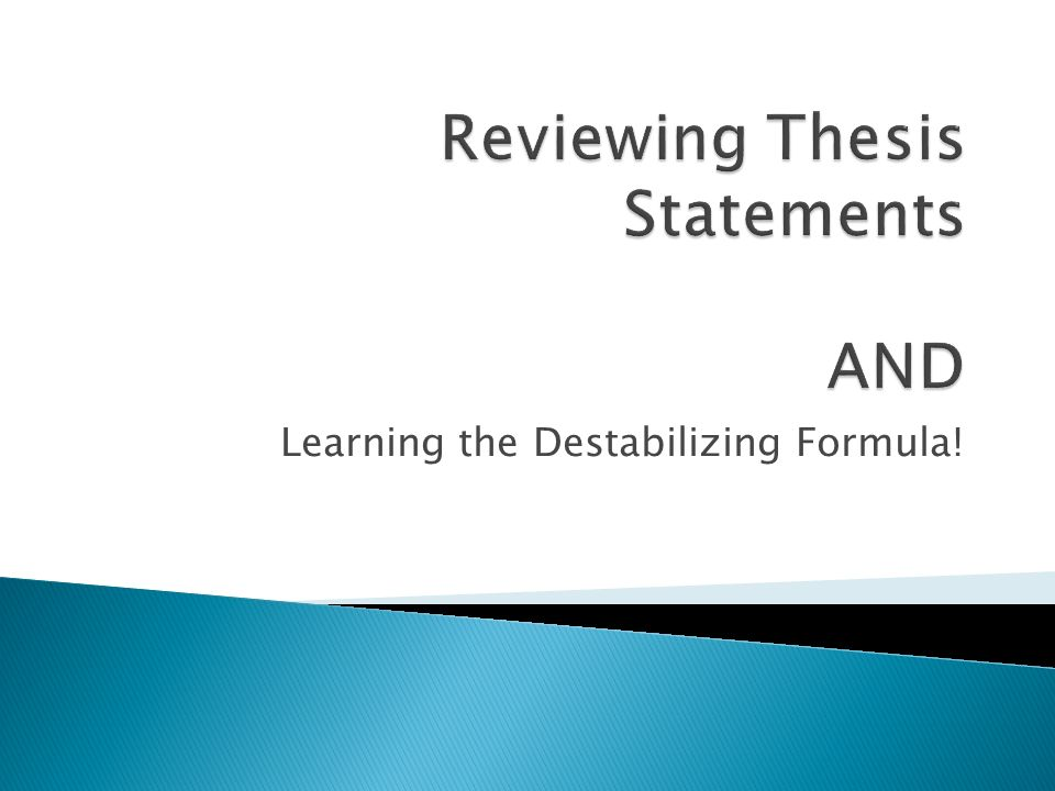teaching thesis powerpoint Writing a good essay s2-thesis statement (a the ending paragraph is what people remember this powerpoint was kindly donated to wwwworldofteachingcom http.