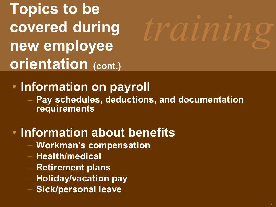 Training UNIT B HUMAN RESOURCE MANAGEMENT 3.03 Understand the ...
