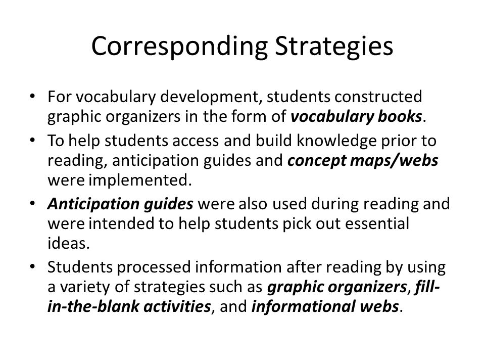 The title of the article how does the use of reading strategies corresponding strategies for vocabulary development students constructed graphic organizers in the form of vocabulary books publicscrutiny Images