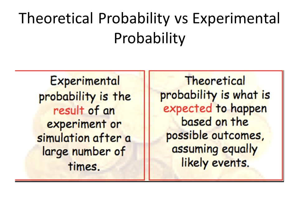 experimenting with the probability of things Probability is the measure of the likelihood that an event will when dealing with experiments that are random and well-defined in a purely theoretical.