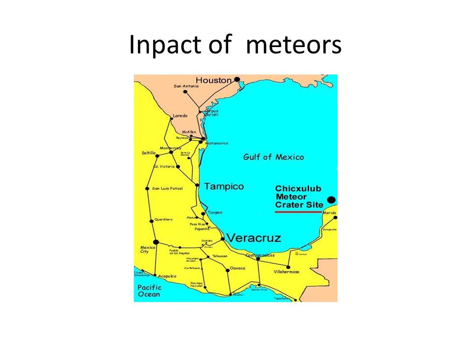 Inpact of meteors