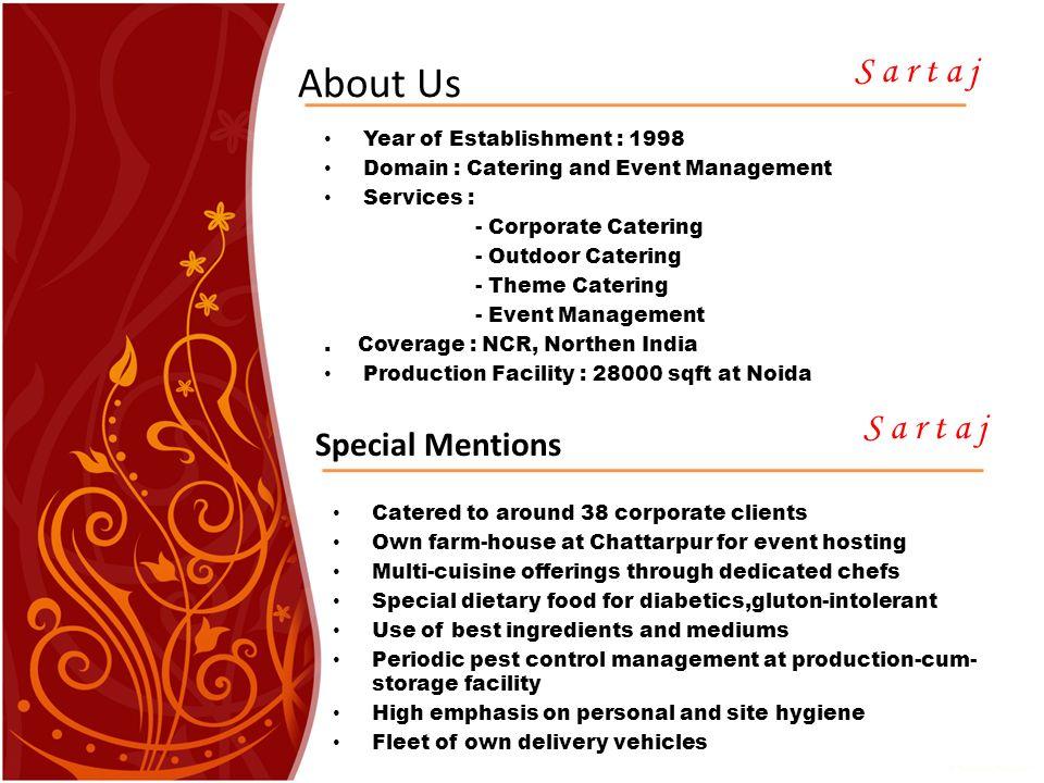 Catering company profile presentation
