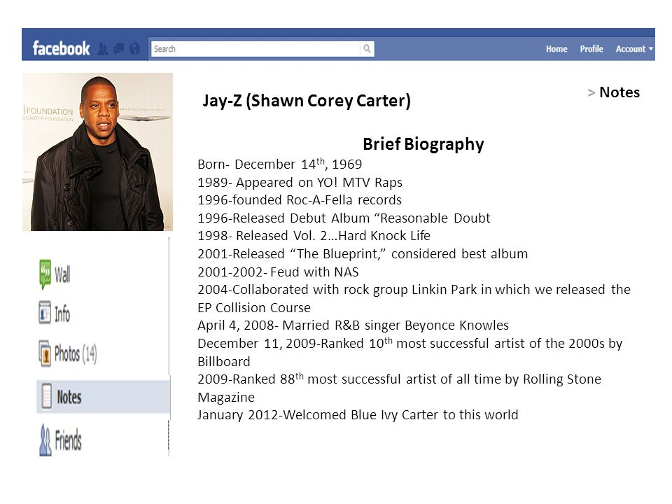 Facebook project favorite musician facebook can help you connect 6 jay z malvernweather Choice Image