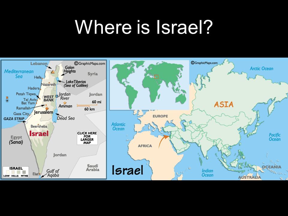 The ArabIsraeli Conflict Where Is Israel What Is The Background - Where is israel
