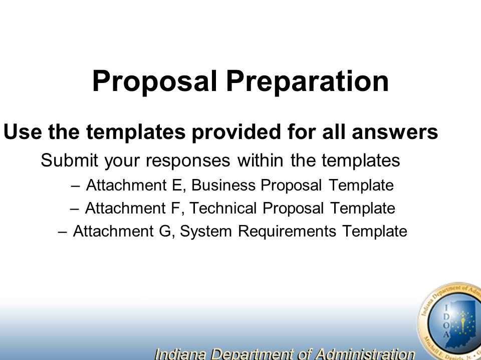 Online grants management system for the indiana department of 5 proposal preparation use the templates provided for all answers submit your responses within the templates attachment e business proposal template saigontimesfo