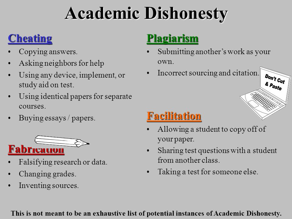 Academic dishonesty avoid making a terrible mistake ppt download