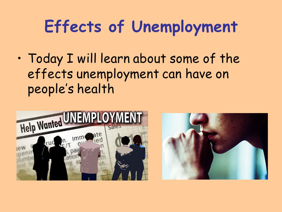 effects of unemployment on society
