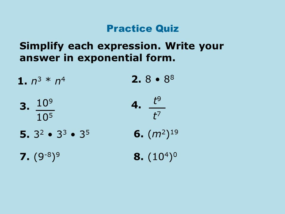 HW 41 Basic Exponents Worksheet Warm up Week 12 Day Three – Evaluate Each Expression Worksheet