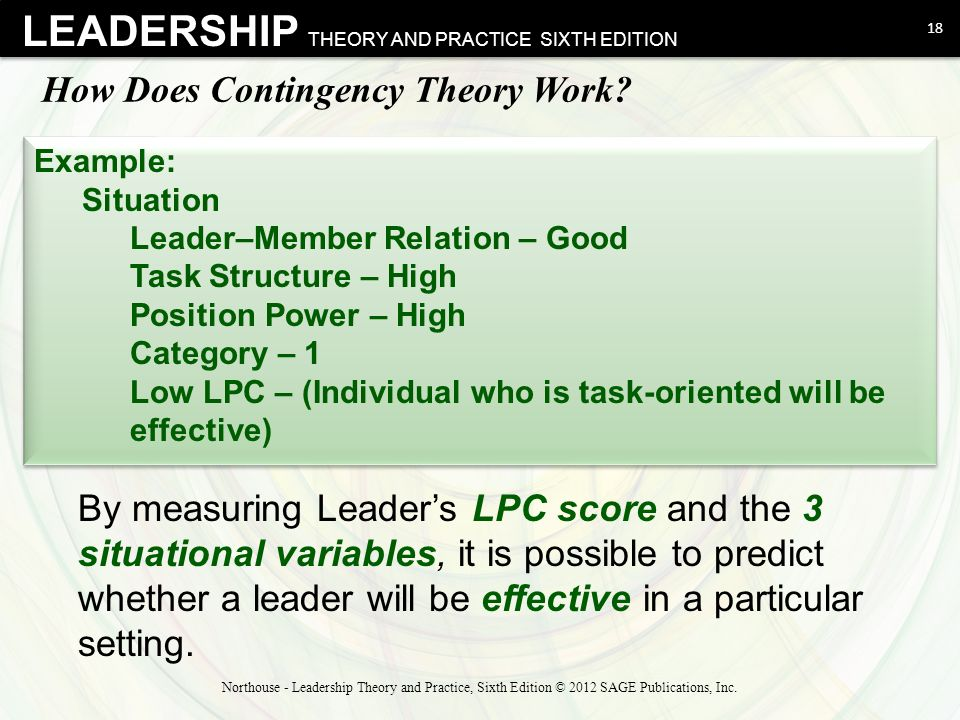 leadership theory and practice Stanford libraries' official online search tool for books, media, journals, databases, government documents and more.