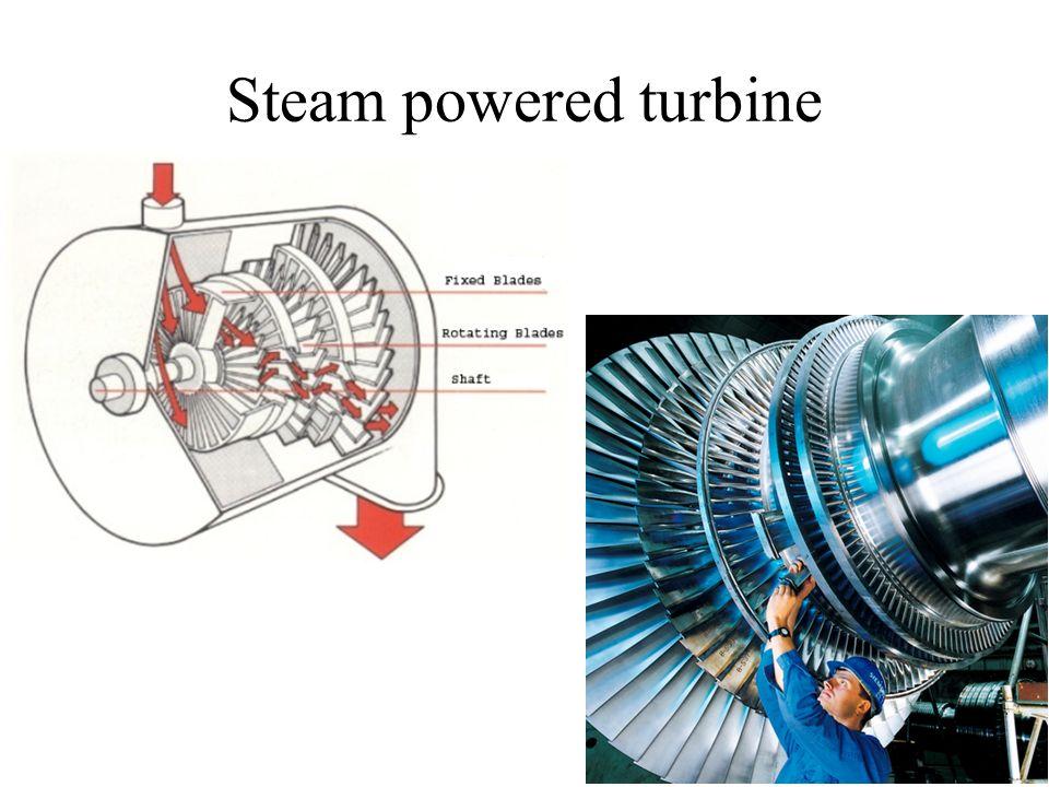 Steam powered turbine