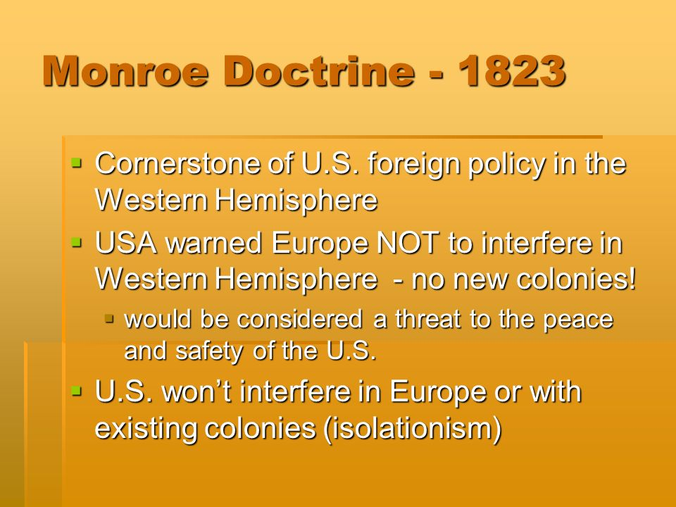 US Imperialism The New Diplomacy Monroe Doctrine - Usa hemisphere