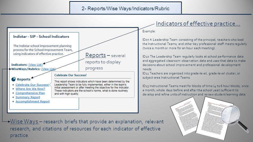 Star instructional planning report