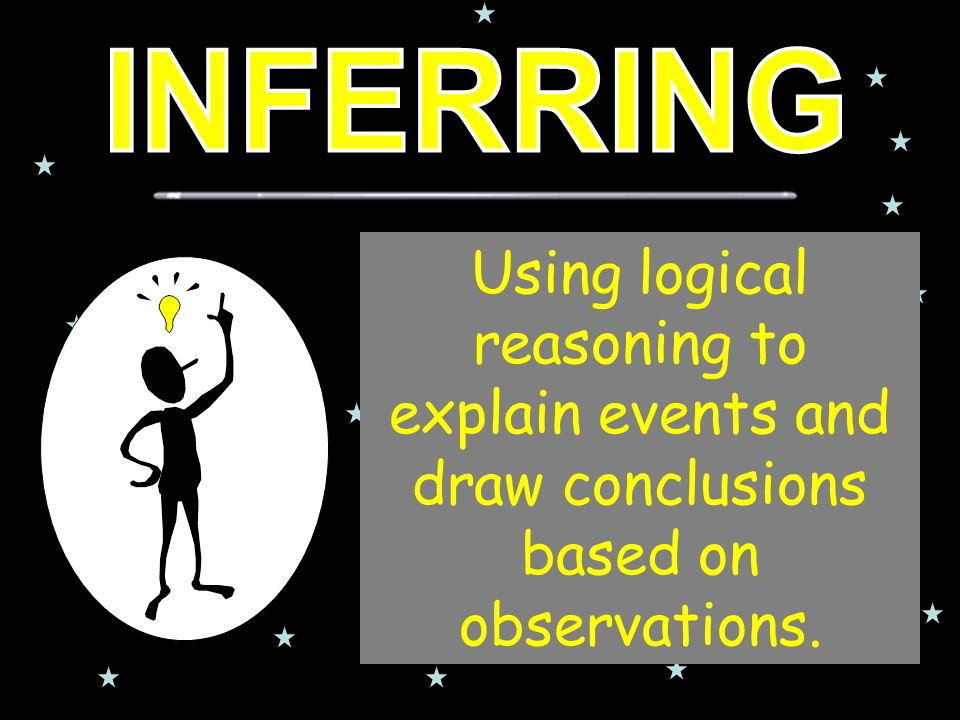 Using logical reasoning to explain events and draw conclusions based on observations.