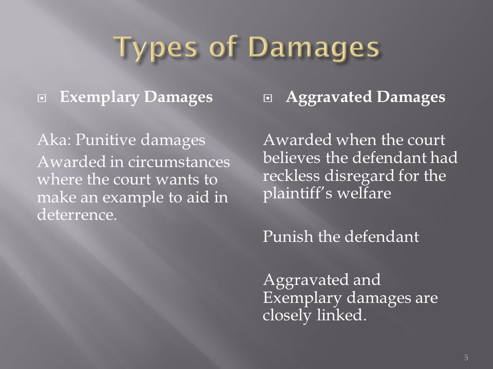Punitive Damages Example Choice Image Example Cover Letter For Resume