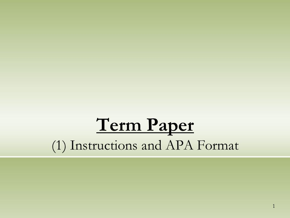 college term paper length