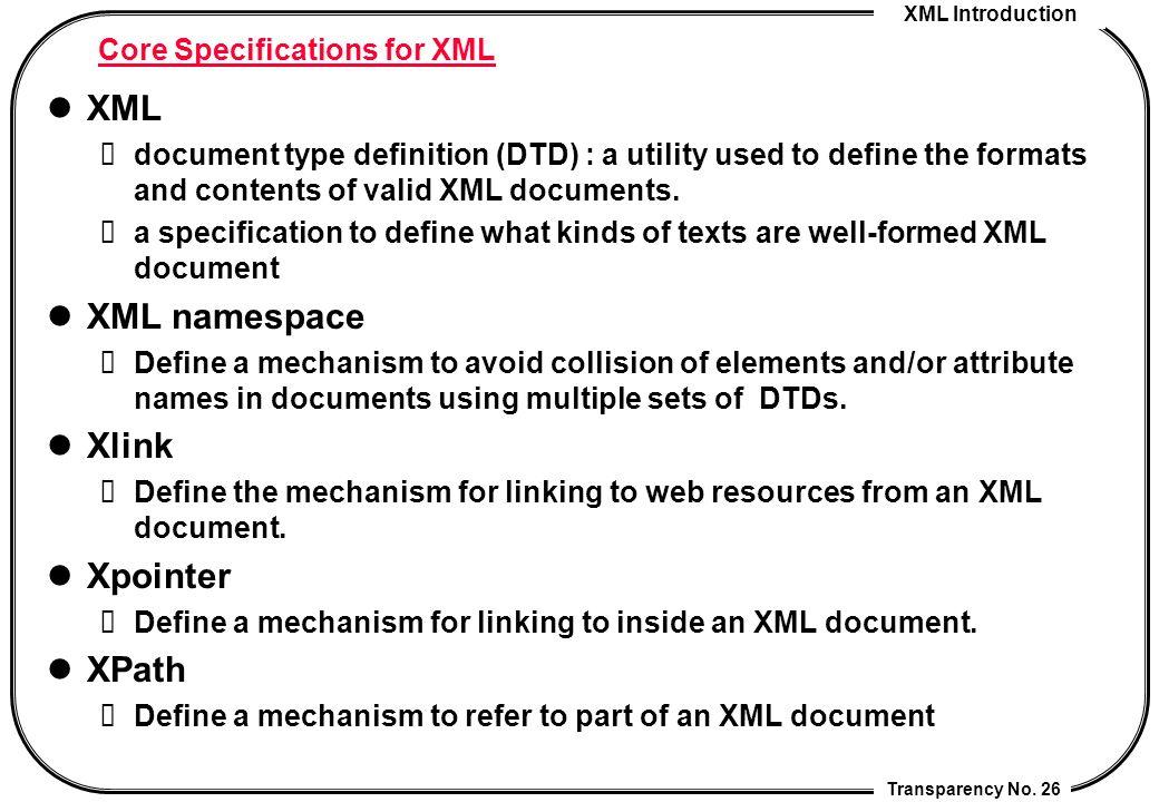 xmlta transparency no 1 introduction to xml cheng chia chen