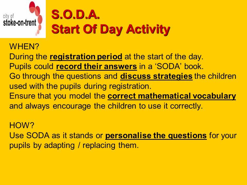 Soda start of day activity morning registration mathematics 3 soda fandeluxe Choice Image