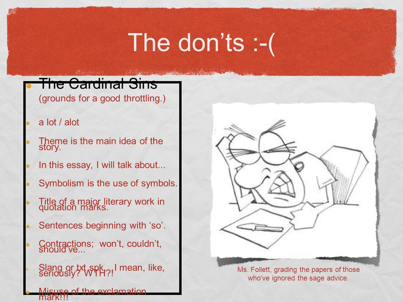 The dos and donts tips for a successful english exam ppt download 15 the biocorpaavc Choice Image