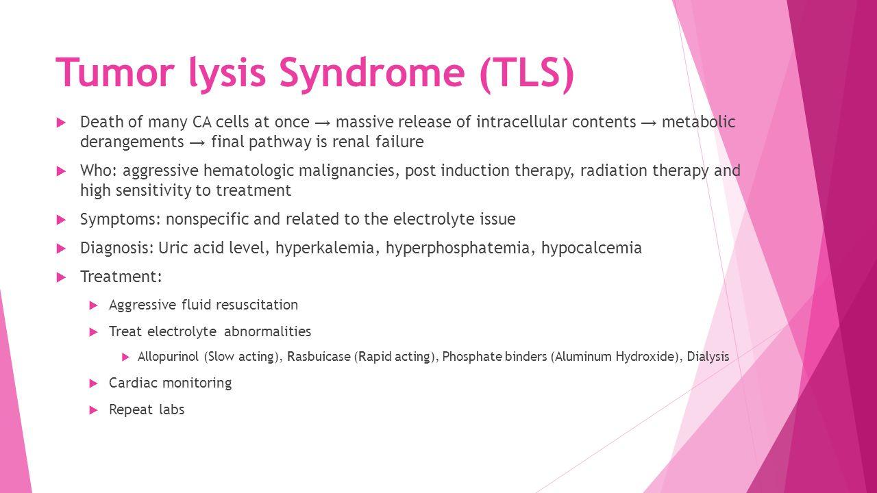 tumor lysis syndrome