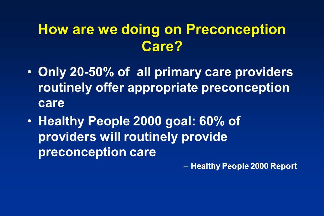 preconception care program