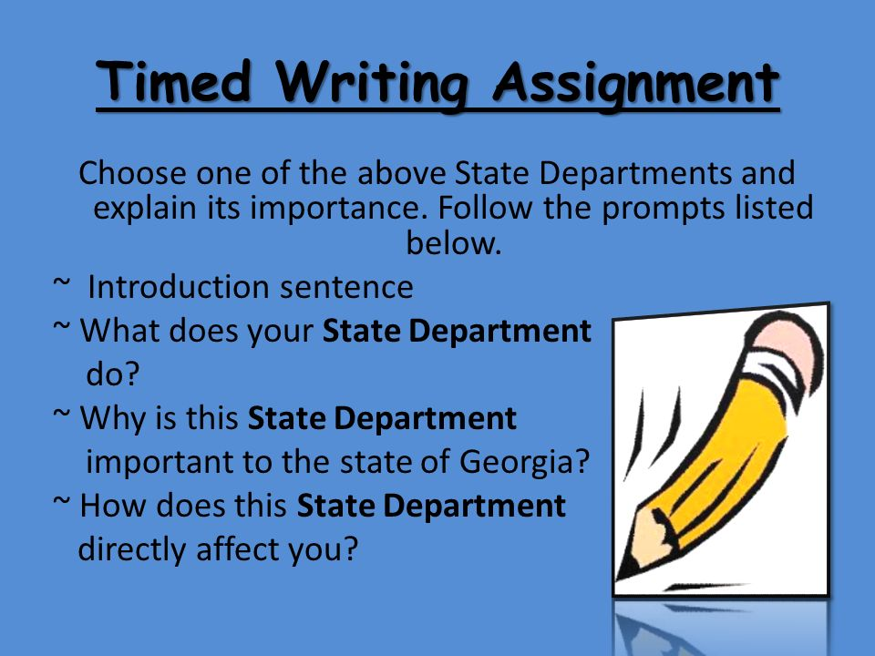 written assignments
