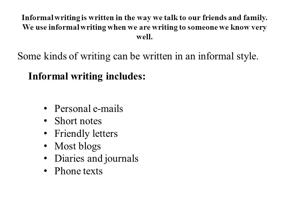 essay informal/formal english
