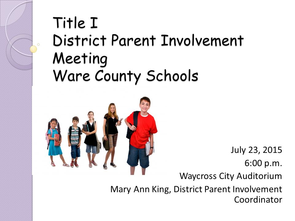parent involvement in schools