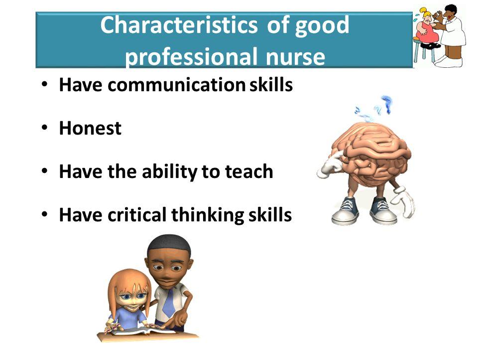 Characteristics of good critical thinkers