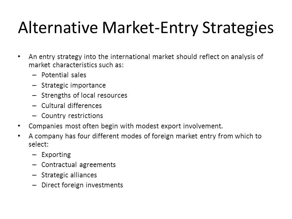 market entry modes