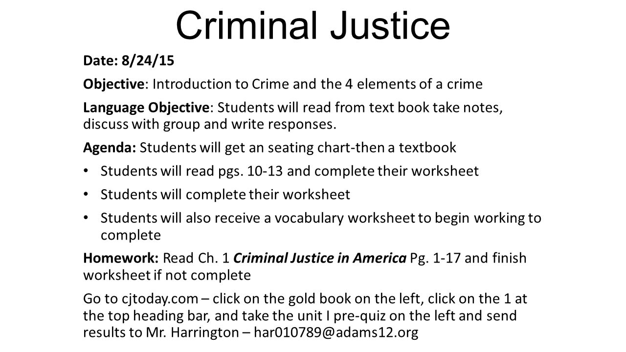 "an analysis of the elements of the courts and the criminal justice system I think the comedic elements that make it so great come from the version of our criminal justice system that ""my cousin vinny"" gives my cousin vinny."