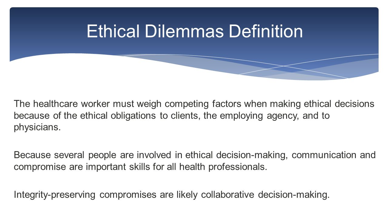 ethical decision making assignment