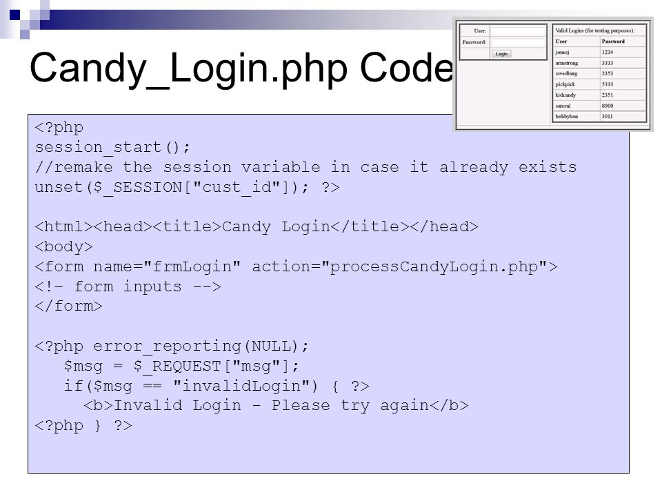 controlling web site access using logins cs 320 basic approach
