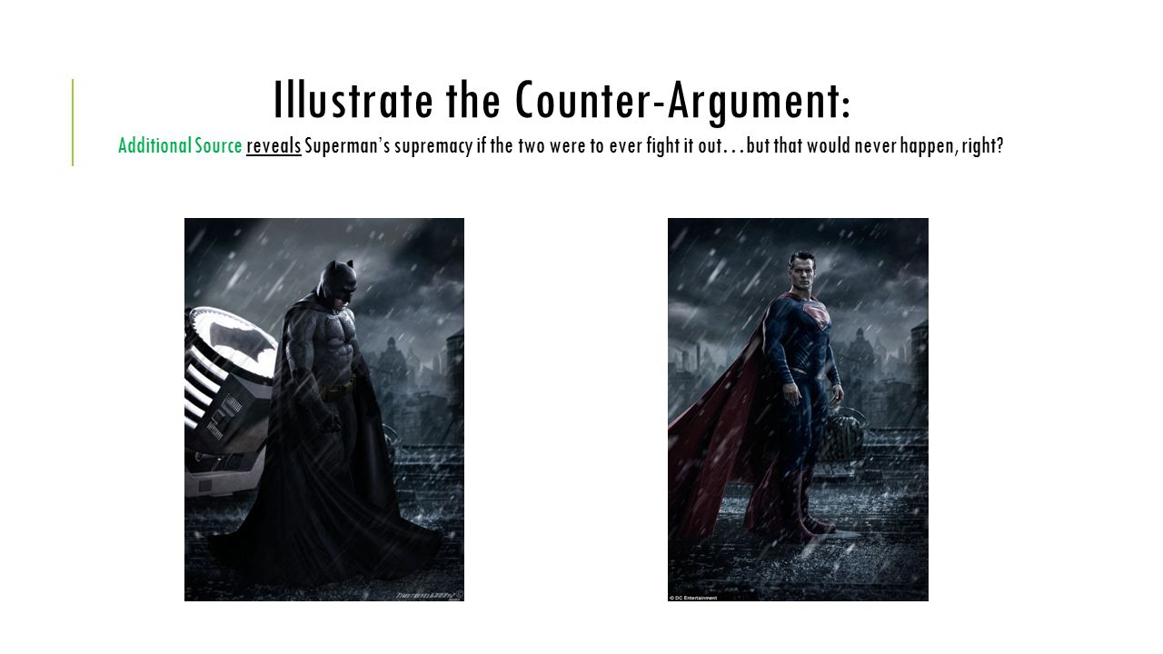 Argument about Superman for a research essay?